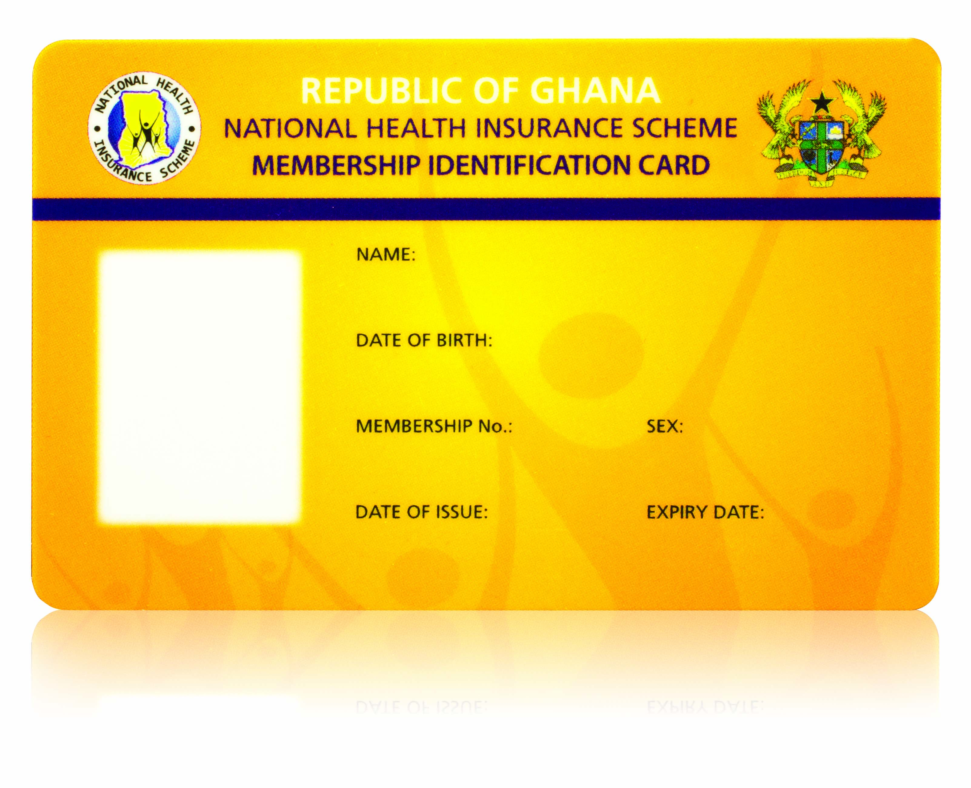 Health insurance card with personalization   J Point Cards
