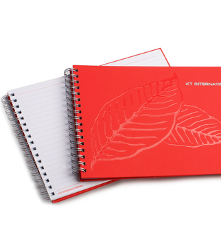 Embossed varnish notebook | J Point Plus