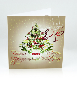 Spot varnish New Year's greeting card | J Point Plus