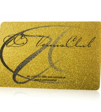 Club card with golden print and magnetic stripe | J Point Cards