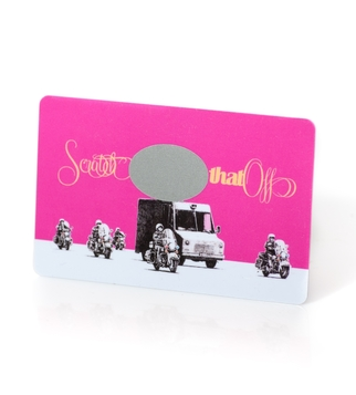Scratch card with gloss lamination | J Point Cards