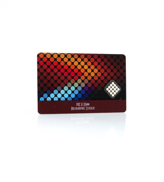Promo card with hologram sticker | J Point Cards