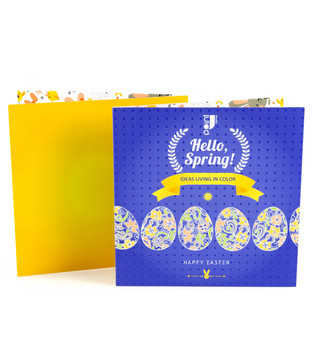 Easter greeting card with emboss varnish and stickers | J Point Plus
