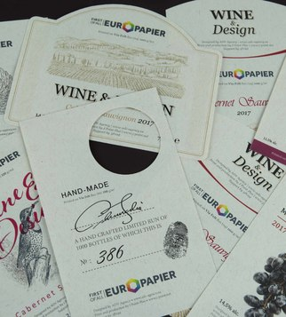 Wine labels of specialized papers | J Point Plus